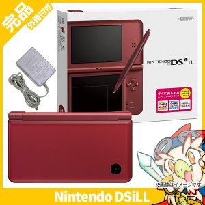 DSiLL ニンテンドーDSi LL ワインレッドUTL-S-WRA 本体 完品 外箱付き Nintendo 任天堂 ニンテンドー 中古 送料無料|entameoukoku
