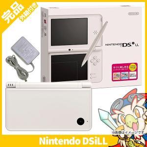 DSiLL ニンテンドーDSi LL ナチュラルホワイトUTL-S-WGA 本体 完品 外箱付き Nintendo 任天堂 ニンテンドー 中古 送料無料|entameoukoku