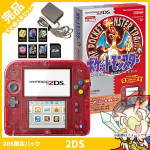 2DS ニンテンドー2DS 赤 限定パックFTR-S-RBDK 本体 完品 外箱付き Nintendo 任天堂 ニンテンドー 中古 送料無料|entameoukoku