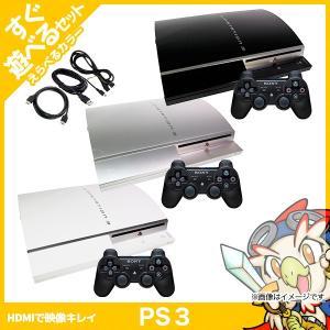 PS3 本体 中古 純正 コントローラー 1個付 選べるカラー CECHL00 80GB ブラック ...