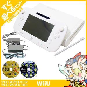 Wii U 本体 スプラトゥーン マリオメーカー ソフト 選べる ベーシック セット 純正 ゲームパ...