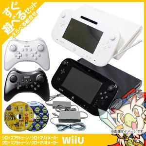 Wii U 本体 スプラ マリオメーカー ソフト プレミアム セット 純正 PRO コントローラー ...