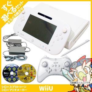 Wii U 本体 スプラ マリオメーカー ソフト ベーシック セット 純正 PRO コントローラー ...
