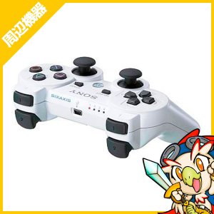 PS3 ワイヤレスコントローラ SIXAXIS ホワイト SONY 中古