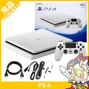 PS4 プレステ4 プレイステーション4 グレイシャー・ホワイト 500GB (CUH-2200AB02) 本体 完品 中古|entameoukoku