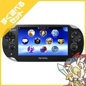 PSVita PlayStation Vita Wi‐Fiモデル クリスタル・ブラック (PCH-1000 ZA01) 本体 すぐ遊べるセット PlayStationVita SONY ソニー 中古|entameoukoku
