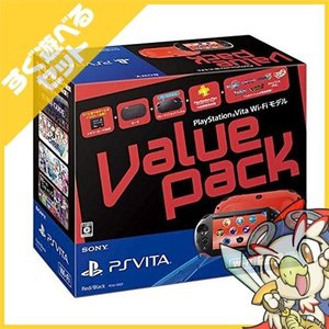 PSVita PlayStation Vita Value Pack Wi-Fiモデル レッド/ブラック 本体 すぐ遊べるセット PlayStationVita SONY ソニー 中古|entameoukoku