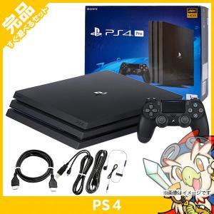 PS4 Pro ジェット・ブラック 1TB (CUH-7200BB01) 本体 完品 外箱付き 中古...