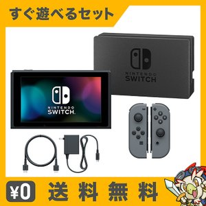 スイッチ 任天堂 本体 ジョイコン 最新モデル すぐ遊べるセット グレー 中古 entameoukoku