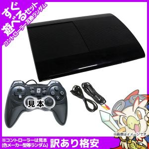 PS3 本体 すぐ遊べるセット 互換コントローラー1個付 CECH-4000B 250GB チャコール・ブラック 中古 entameoukoku