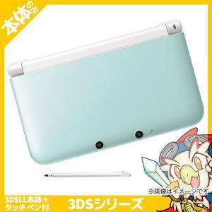 3DS LL ミントXホワイト 本体のみ タッチペン付き 中古 entameoukoku