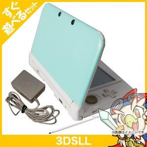 3DS LL ミントXホワイト 本体 すぐ遊べるセット 中古 entameoukoku