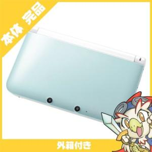 3DSLL ニンテンドー3DS LL ミントXホワイト 本体 完品 外箱付き Nintendo 任天堂 ニンテンドー 中古 送料無料 entameoukoku