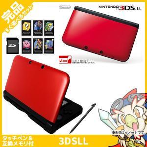 3DSLL ニンテンドー3DS LL レッドXブラック 本体 完品 外箱付き Nintendo 任天堂 ニンテンドー 中古 送料無料|entameoukoku