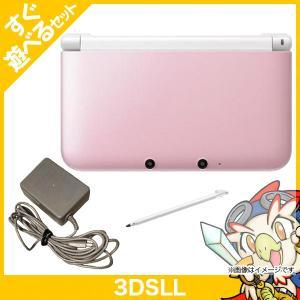 3DSLL ニンテンドー3DS LL ピンクXホワイト 本体 すぐ遊べるセット Nintendo 任天堂 ニンテンドー 中古 送料無料|entameoukoku