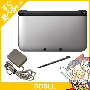 3DSLL ニンテンドー3DS LL シルバーXブラック 本体 すぐ遊べるセット Nintendo 任天堂 ニンテンドー 中古 送料無料 entameoukoku