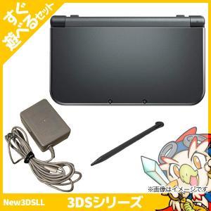 New3DSLL New ニンテンドー3DS LL メタリックブラックRED-S-VAAA 本体 すぐ遊べるセット Nintendo 任天堂 ニンテンドー 中古 送料無料|entameoukoku