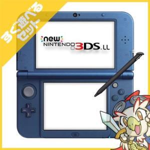 New3DSLL New ニンテンドー3DSLL メタリックブルー(RED-S-BAAA) 本体 すぐ遊べるセット Nintendo 任天堂 ニンテンドー 中古 送料無料|entameoukoku