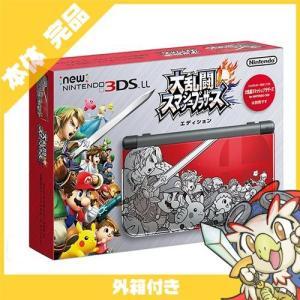New3DSLL Newニンテンドー3DS LL 大乱闘スマッシュブラザーズ エディション RED-S-RBAA 本体 完品 外箱付き Nintendo 任天堂 ニンテンドー 中古 送料無料|entameoukoku