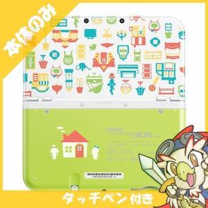 New3DSLL Newニンテンドー3DS LL どうぶつの森 ハッピーホームデザイナー パックRED-S-WBDE 本体のみ タッチペン付き Nintendo 任天堂 中古 送料無料|entameoukoku