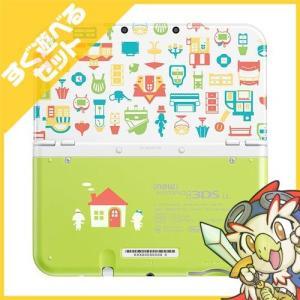 New3DSLL Newニンテンドー3DS LL どうぶつの森 ハッピーホームデザイナー パックRED-S-WBDE 本体 すぐ遊べるセット Nintendo 任天堂 中古 送料無料|entameoukoku