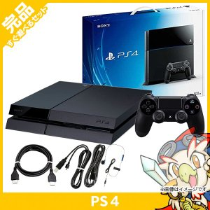 PS4 プレステ4 プレイステーション4 ジェット・ブラック 500GB (CUH-1100AB01) 本体 完品 外箱付き PlayStation4 SONY ソニー 中古 送料無料