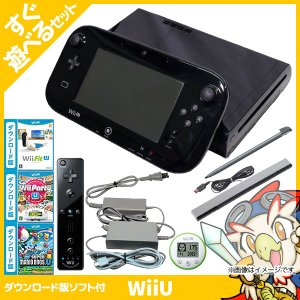 WiiU Wii U すぐに遊べるファミリープレミアムセット+Wii Fit U(クロ)(バランスWiiボード非同梱) 本体 すぐ遊べるセット Nintendo 任天堂 中古 送料無料 entameoukoku