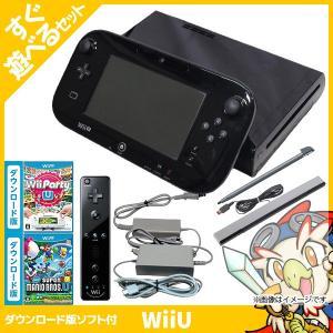 WiiU ニンテンドーWiiU ファミリープレミアムセット(クロ) 本体 すぐ遊べるセット wiiリモコンプラス 付き Nintendo 任天堂 中古 送料無料 entameoukoku