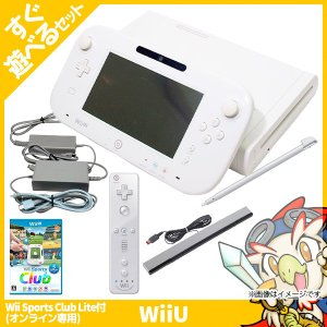 「ご注文の前にお買い物ガイドをご覧下さい。」 【セット内容】Wii U本体 (シロ)・GamePad...