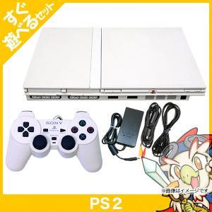 PS2 プレステ2 プレイステーション2 PlayStation2 本体 SCPH-70000CW セラミック・ホワイト SONY ゲーム機 中古 送料無料|entameoukoku
