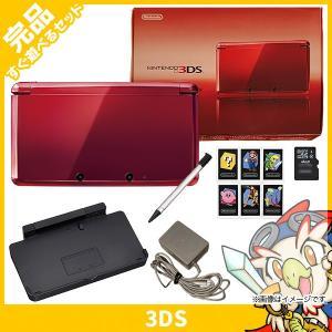 3DS ニンテンドー3DS 本体 完品 フレアレッド 中古 ...