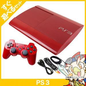 PS3 プレステ3 プレイステーション3 250GB ガーネット・レッド 本体 すぐ遊べるセット コントローラー付き PlayStation3 SONY ソニー 中古 送料無料|entameoukoku