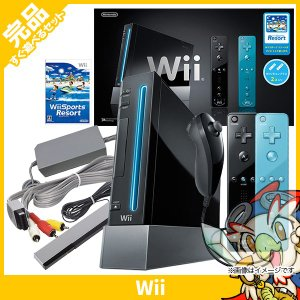 Wii ニンテンドーWii Wiiリモコンプラス2個、Wiiスポーツリゾート同梱 本体 完品 外箱付き 中古 送料無料