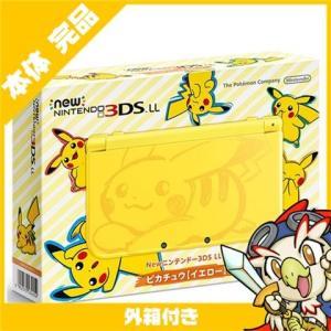 New3DSLL Newニンテンドー3DS LL ピカチュウ イエロー RED-S-YCAA 本体 完品 外箱付き Nintendo 任天堂 ニンテンドー 中古 送料無料|entameoukoku