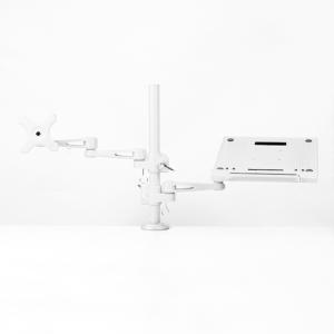 ノートパソコン&サブモニター用ダブルアーム MARMGUS3360S ノートパソコン台 27インチモニタ モニターアーム|enteron-kagu-shop
