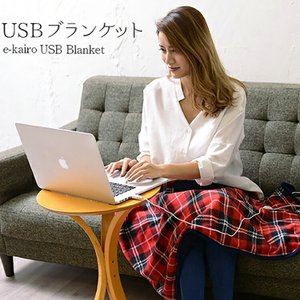 ブランケット USBブランケット USB Blanket e-kairo チェック柄 ひざ掛け ブランケット 電気ひざ掛け ギフト プレゼント イーカイロ あったかグッズ|enteron-kagu-shop