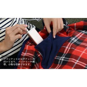 ブランケット USBブランケット USB Blanket e-kairo チェック柄 ひざ掛け ブランケット 電気ひざ掛け ギフト プレゼント イーカイロ あったかグッズ|enteron-kagu-shop|05