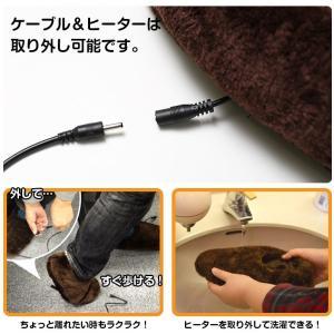あったかスリッパ USBデュアルヒータースリッパ 足元 あったかグッズ サイズM/L 暖房 足元暖房 USBスリッパ USSLDU21|enteron-kagu-shop|05