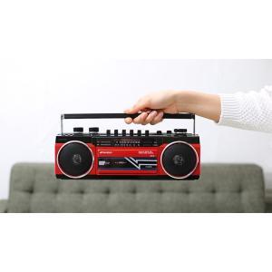 ラジカセ カセット Bluetooth カセットテープ シングルラジカセ SCR-B2 カセット ラジオ 再生 ステレオ MP3 USB SDカード デジタル アナログ SANSUI enteron-kagu-shop 03