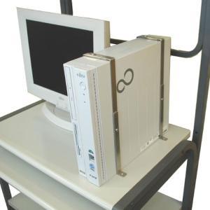 PCパワーホルダー 盗難防止、転倒防止 デスクトップパソコン用セキュリティキット 耐震固定 地震対策|enteron-kagu-shop