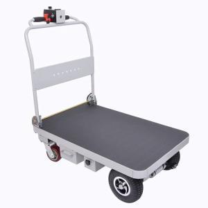 電動アシスト力で安定して楽に運ぶことができる台車です。
