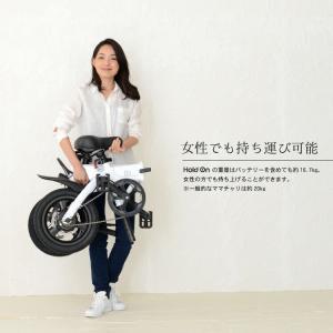 電動自転車 折りたたみ Hold On Q1 電動アシスト自転車 おしゃれ 安い パールホワイト/ナイトブルー/メタリックカーキ メーカー直送のため代引不可|enteron-kagu-shop|10