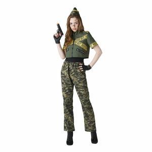 ハロウィン コスプレ アーミー アーミーガール 兵隊 軍隊 セクシー クール 軍人 ミリタリー 女性 女 衣装 仮装 ポリス 警察 警官 今期完売18|enteron-kagu-shop|04