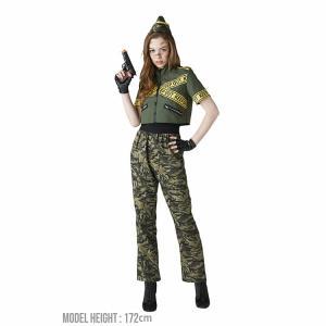 ハロウィン コスプレ アーミー アーミーガール 兵隊 軍隊 セクシー クール 軍人 ミリタリー 女性 女 衣装 仮装 ポリス 警察 警官 今期完売18|enteron-kagu-shop|05