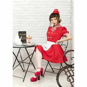 ハロウィン ウェイトレス コスプレ レッドダイナーガール ダイナー チェリーダイナー アメリカン ダイナー 衣装 仮装 可愛い おしゃれ お洒落 パーティー|enteron-kagu-shop|09