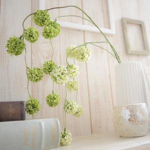 いなざうるす屋 フェイクグリーン ゆらゆらポンポン グリーン/ホワイトグリーン 壁飾り 壁掛けインテリア 観葉植物 ウォールデコレーション|enteron-kagu-shop