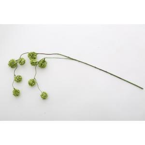 いなざうるす屋 フェイクグリーン ゆらゆらポンポン グリーン/ホワイトグリーン 壁飾り 壁掛けインテリア 観葉植物 ウォールデコレーション|enteron-kagu-shop|05