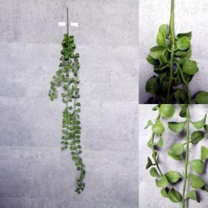 いなざうるす屋 フェイクグリーン 垂れる丸い葉っぱ 壁飾り 壁掛けインテリア 観葉植物 ウォールデコレーション 緑 壁掛け インテリア|enteron-kagu-shop