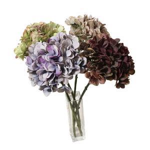 いなざうるす屋 フェイクグリーン 秋色紫陽花 ブラウン/ラベンダー/グレーグリーン/ピンクグリーン 壁飾り 壁掛けインテリア 観葉植物 ウォールデコレーション|enteron-kagu-shop