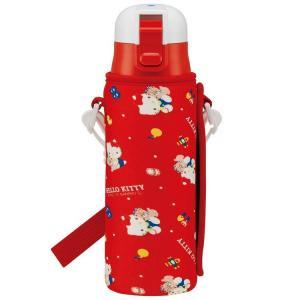 水筒 ハローキティ 直飲みステンレスボトル 470ml ボトルカバー付き ハローキティ 80年代 K...